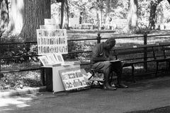艺术家在中央公园 库存照片