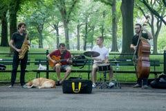 艺术家在中央公园 免版税图库摄影