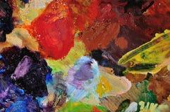 艺术家干燥油调色板 库存照片