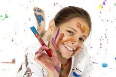 艺术家年轻人 库存照片