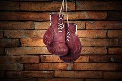 艺术家庭装饰的拳击手套 图库摄影