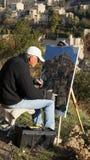 艺术家戈尔代油漆秀丽  库存图片