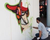 艺术家执行在HOMI,家国际展示的KayOne在米兰,意大利 免版税库存图片