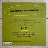 艺术家收支  免版税图库摄影