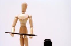 艺术家时装模特 免版税库存照片