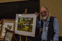 艺术家显示他的工作在2016个SEJ会议萨加门多 图库摄影