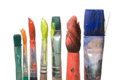 艺术家油漆刷 图库摄影