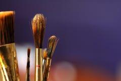艺术家油漆刷 免版税库存图片