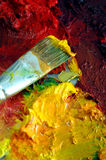 艺术家油画调色板 免版税库存照片