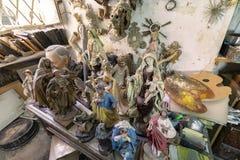 艺术家演播室、雕塑和雕象 库存图片