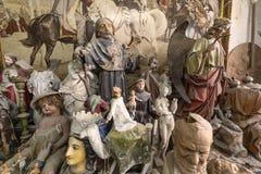 艺术家演播室雕塑 免版税库存图片