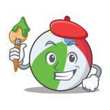 艺术家球字符动画片样式 库存图片