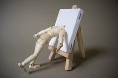 艺术家画布题头时装模特 免版税库存图片