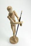 艺术家画笔人体模型 库存图片