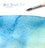 艺术家画笔油漆水彩 免版税图库摄影