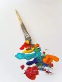 艺术家画笔油漆 免版税库存照片