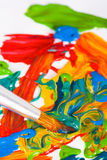 艺术家画笔油漆 免版税图库摄影