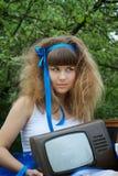 艺术家疯狂的发型 库存图片