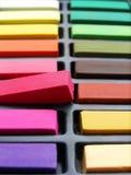 艺术家白垩五颜六色的柔和的淡色彩 免版税库存照片