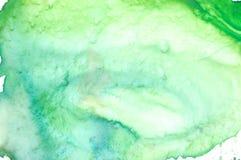 艺术家的水彩调色板特写镜头  库存照片