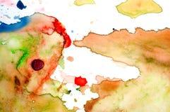艺术家的水彩调色板 免版税库存照片