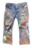 艺术家的牛仔裤 免版税库存图片