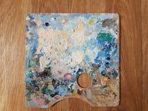 艺术家的调色板 免版税库存照片