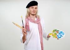 艺术家美丽的年轻人 免版税库存图片