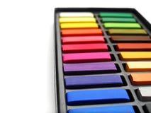 艺术家配件箱柔和的淡色彩 免版税库存照片