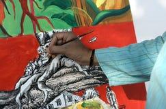 艺术家绘画 免版税图库摄影