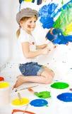 年轻艺术家 库存照片