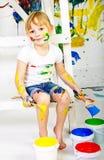年轻艺术家 免版税图库摄影