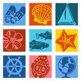 艺术对象流行音乐航行旅行 免版税库存照片