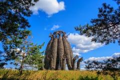 艺术对象Bobur,风景节日反对Archstoyanie 免版税图库摄影