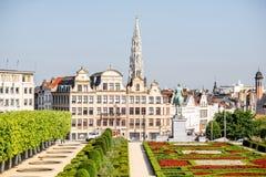 艺术山正方形在布鲁塞尔 库存图片