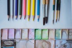 艺术工具 免版税库存图片