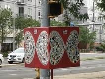 艺术形状在斯坦福德街市在康涅狄格 图库摄影