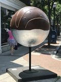 艺术形状在斯坦福德街市在康涅狄格 库存图片