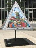 艺术形状在斯坦福德街市在康涅狄格 免版税库存照片