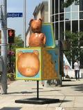 艺术形状在斯坦福德街市在康涅狄格 免版税库存图片