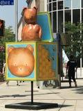 艺术形状在斯坦福德街市在康涅狄格 库存照片