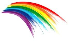 艺术彩虹颜色刷子冲程油漆凹道背景 库存照片