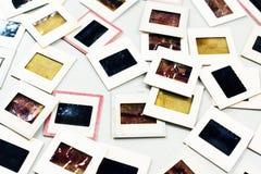 艺术性减速火箭的35mm类似物的胶卷幻灯片 免版税图库摄影