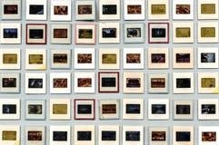 艺术性减速火箭的35mm类似物的胶卷幻灯片 免版税库存图片