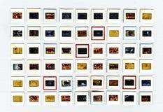 艺术性减速火箭的35mm类似物的胶卷幻灯片 库存图片