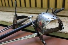 艺术性操刀的剑 库存图片