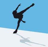 艺术性滑冰 免版税图库摄影