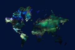 艺术性的世界地图 免版税库存图片