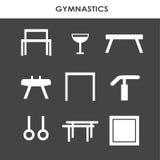 艺术性的体操设备 免版税库存图片