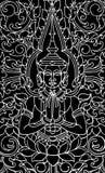 艺术性的佛教中国pa传统向量 库存照片